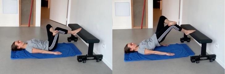 Exercice ischios jambiers jambe en appui