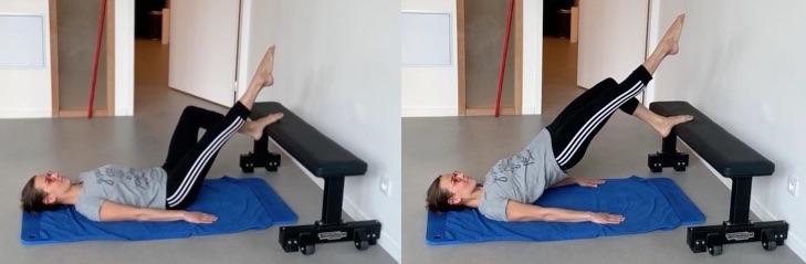 Exercice ischios jambiers jambe tendue